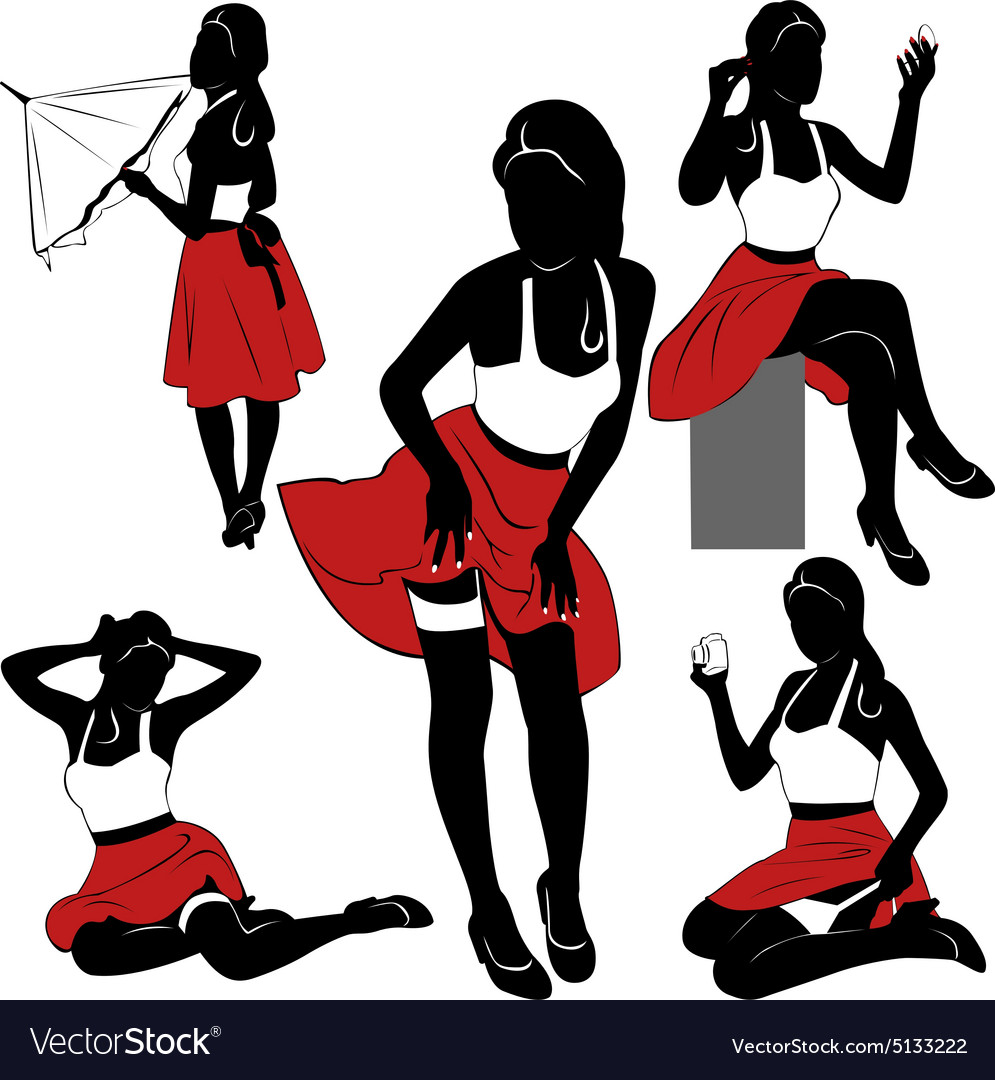 Pin up silhouette clipart clipart royalty free Pin up silhouettes clipart royalty free