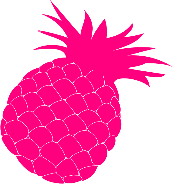 Pine apple clipart png free library Hot Pink Pineapple Clip Art at Clker.com - vector clip art online ... png free library