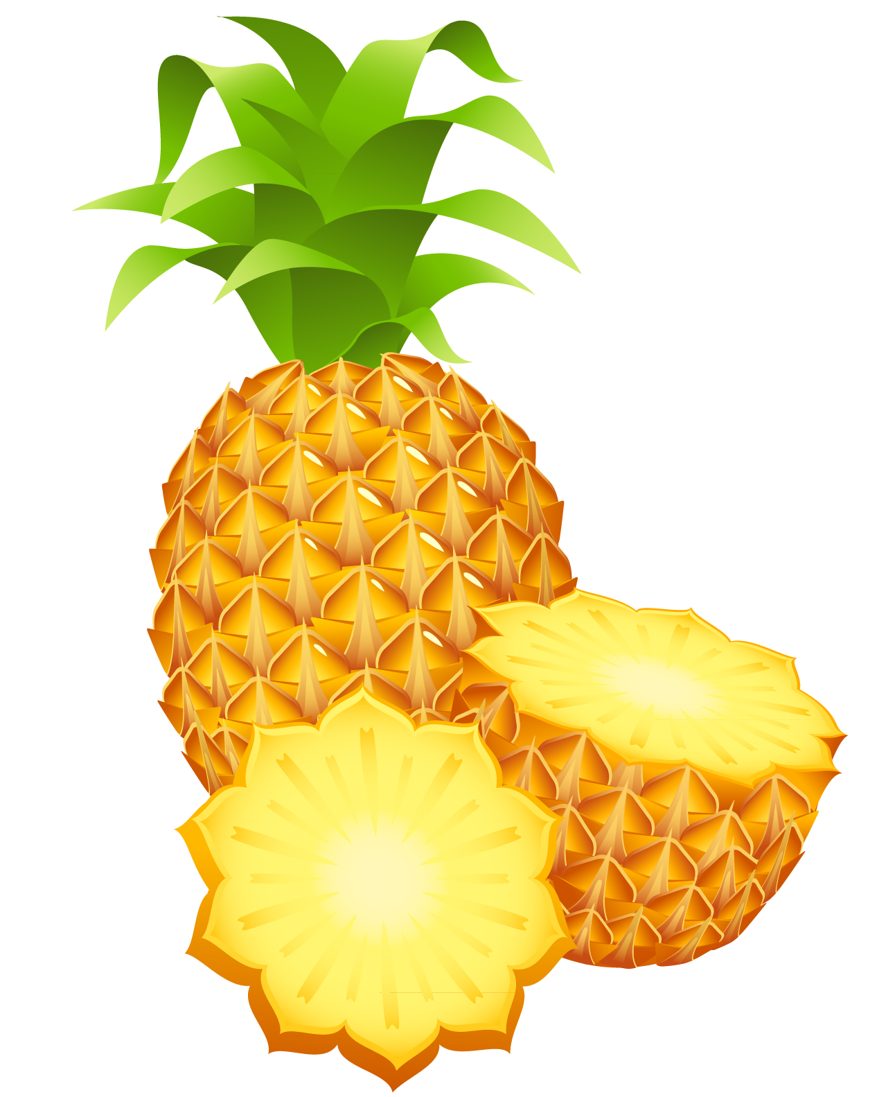 Pineapple crown clipart clip library Large Painted Pineapple PNG Clipart | Gallery Yopriceville - High ... clip library