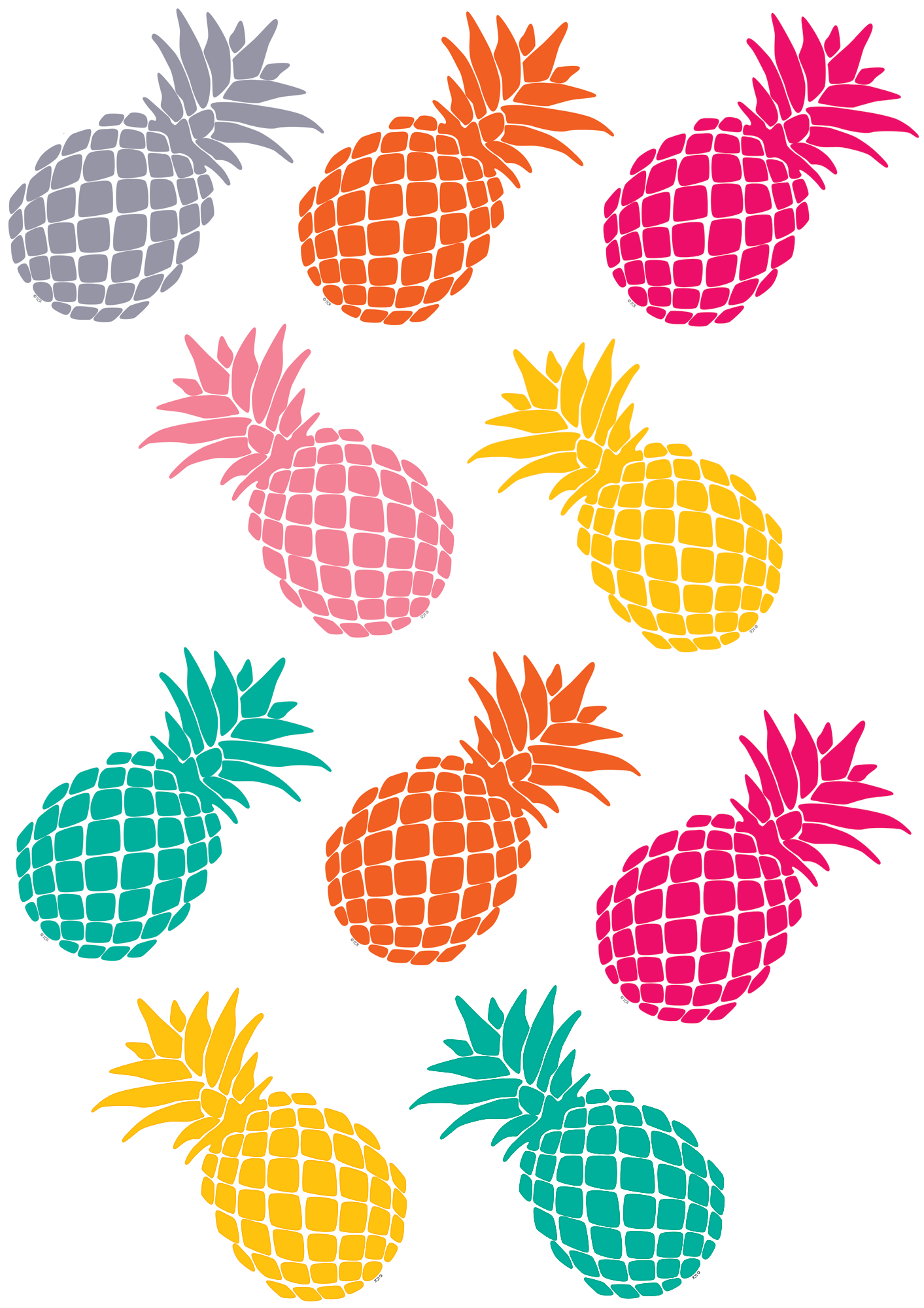 Six point crown clipart picture free Tropical Punch Pineapples Accents | Pinterest | Bulletin board ... picture free
