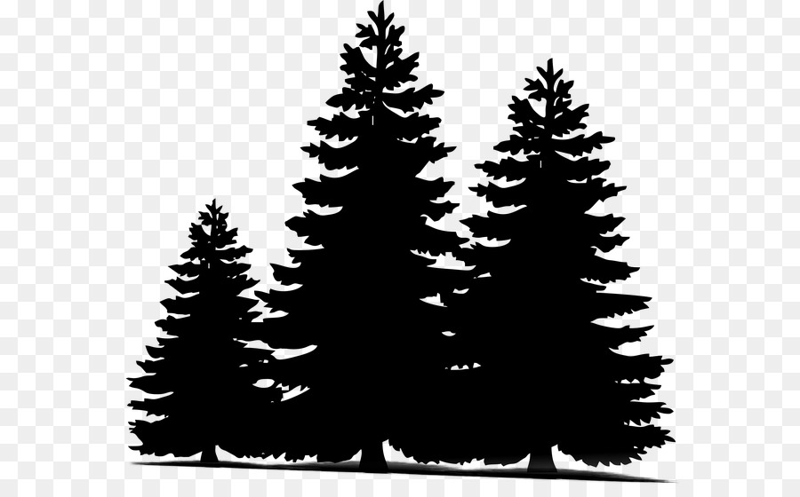 Pine silhouette clipart black and white picture Christmas Black And White clipart - Pine, Tree, Silhouette ... picture