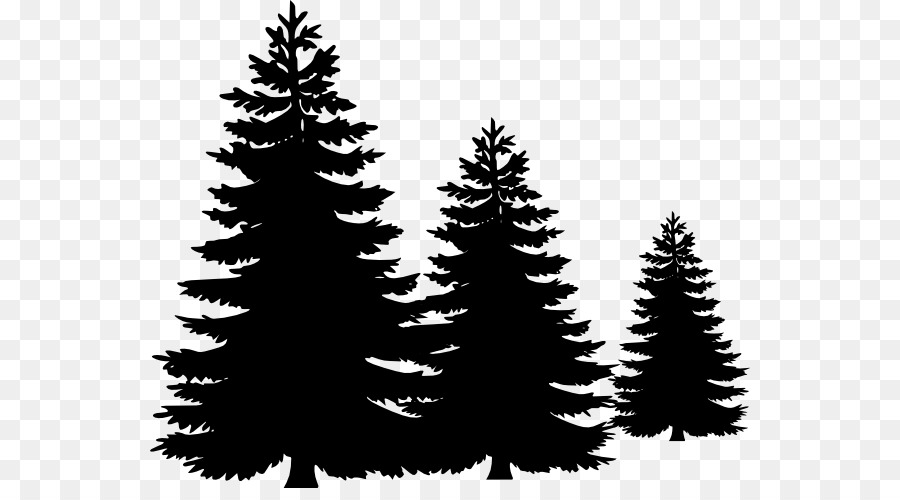 Pine silhouette clipart black and white vector royalty free library Christmas Black And White clipart - Tree, Drawing ... vector royalty free library