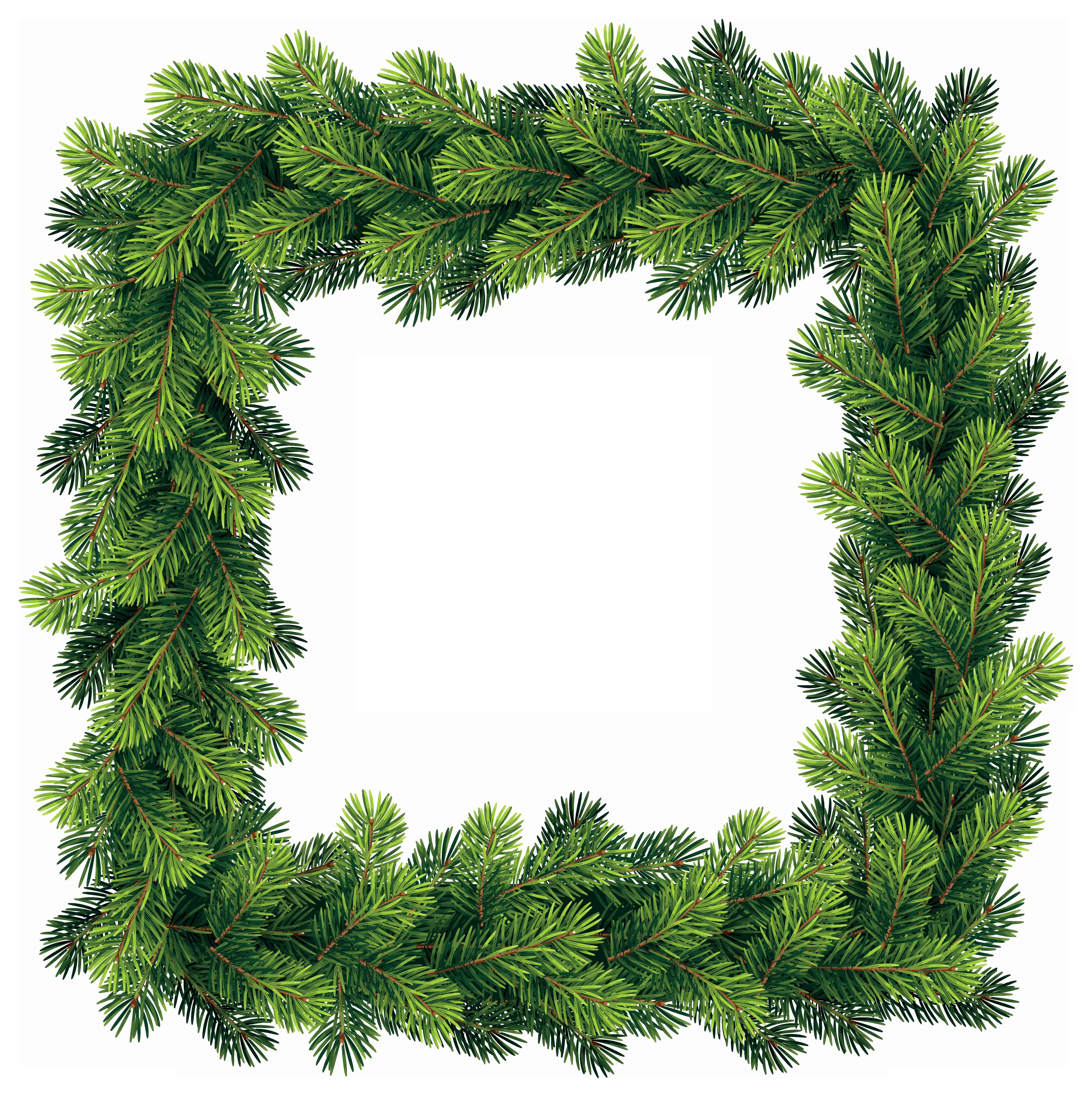 Pine tree border clipart clip download Transparent Pine Border Frame PNG Clip Art Image | Gallery ... clip download