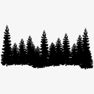 Pine tree silhouette clipart free picture transparent library treeline #trees #forest #silhouette #treesilhouette - Pine ... picture transparent library