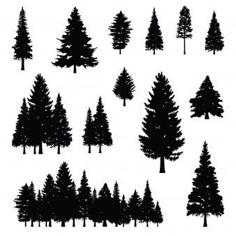 Pine tree silhouette clipart free clip freeuse library Pine Vectors, Photos and PSD files   Free Download clip freeuse library