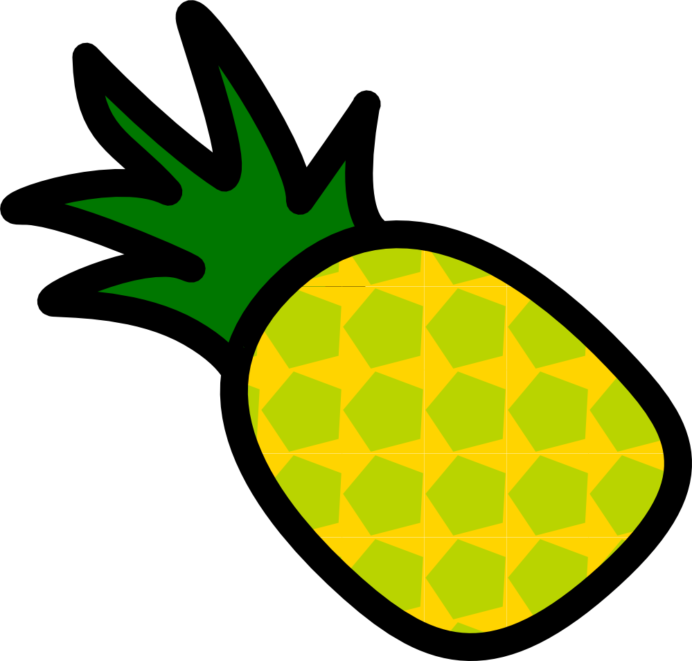 Pineapple crown clipart svg freeuse 30+ Cool Clipart Pineapple Black And svg freeuse