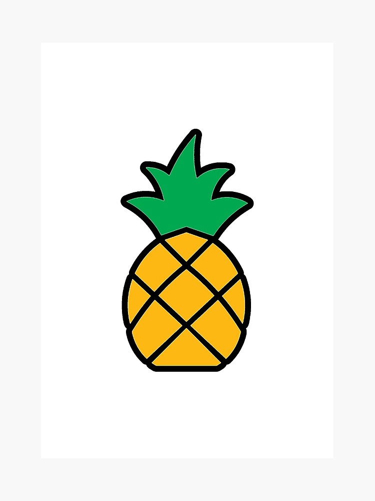 Pineapple clipart easy jpg black and white Simple Pineapple Drawing | Free download best Simple ... jpg black and white
