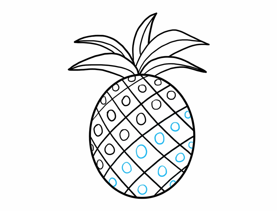 Pineapple clipart easy clipart library How To Draw Pineapple - Drawings Easy {#4203896} - Pngtube clipart library