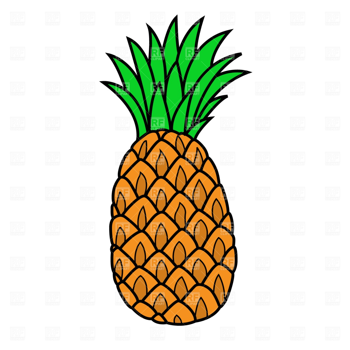 Free pineapple clipart picture freeuse download Best Pineapple Clipart #3172 - Clipartion.com picture freeuse download