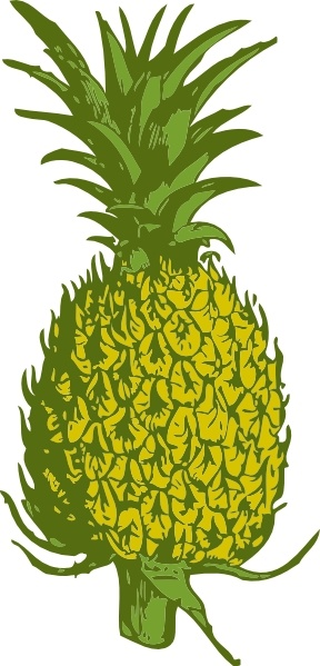 Pineapple clipart svg png black and white stock Pineapple clip art Free vector in Open office drawing svg ( .svg ... png black and white stock