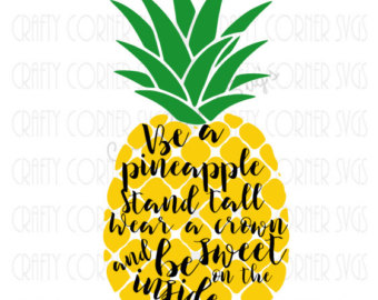 Pineapple clipart svg clipart black and white Pineapple svg – Etsy clipart black and white