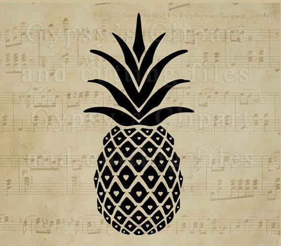 Pineapple clipart svg clip art transparent Pineapple svg PIneapple Monogram Pineapple Split Frame clip art transparent