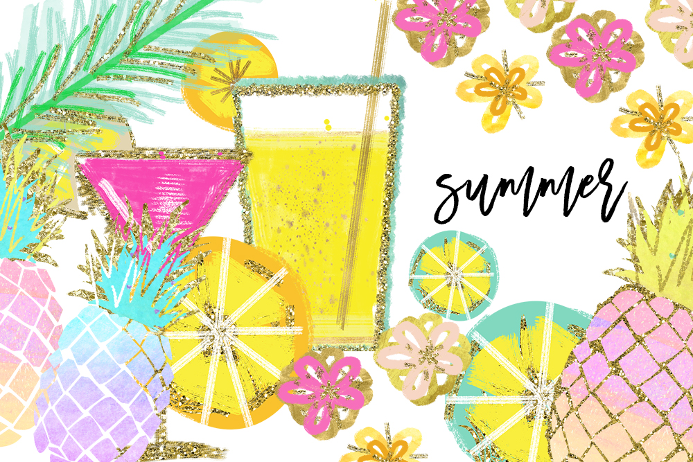 Pineapple drink clipart image library download Tropical Clip Art, Watercolor Summer Clipart, Pineapple Summer Clipart,  Beach Clipart, Lemon Clipart, Pineapple Clipart, signature drink image library download
