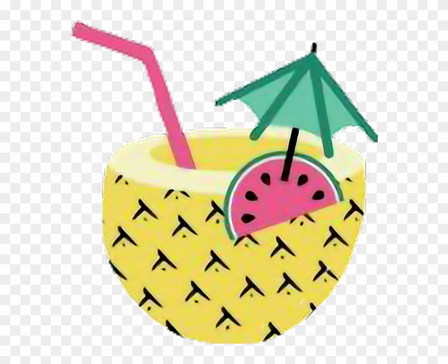 Pineapple drink clipart graphic transparent stock Pineapples Piñacolada Summer Hawaii Drink Tikibar Piña ... graphic transparent stock