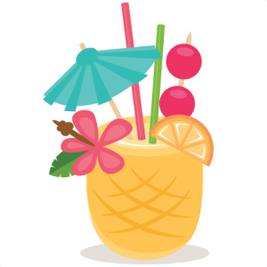 Pineapple drink clipart vector stock FREE Cut file of the Day} Pineapple Drink - Available for ... vector stock