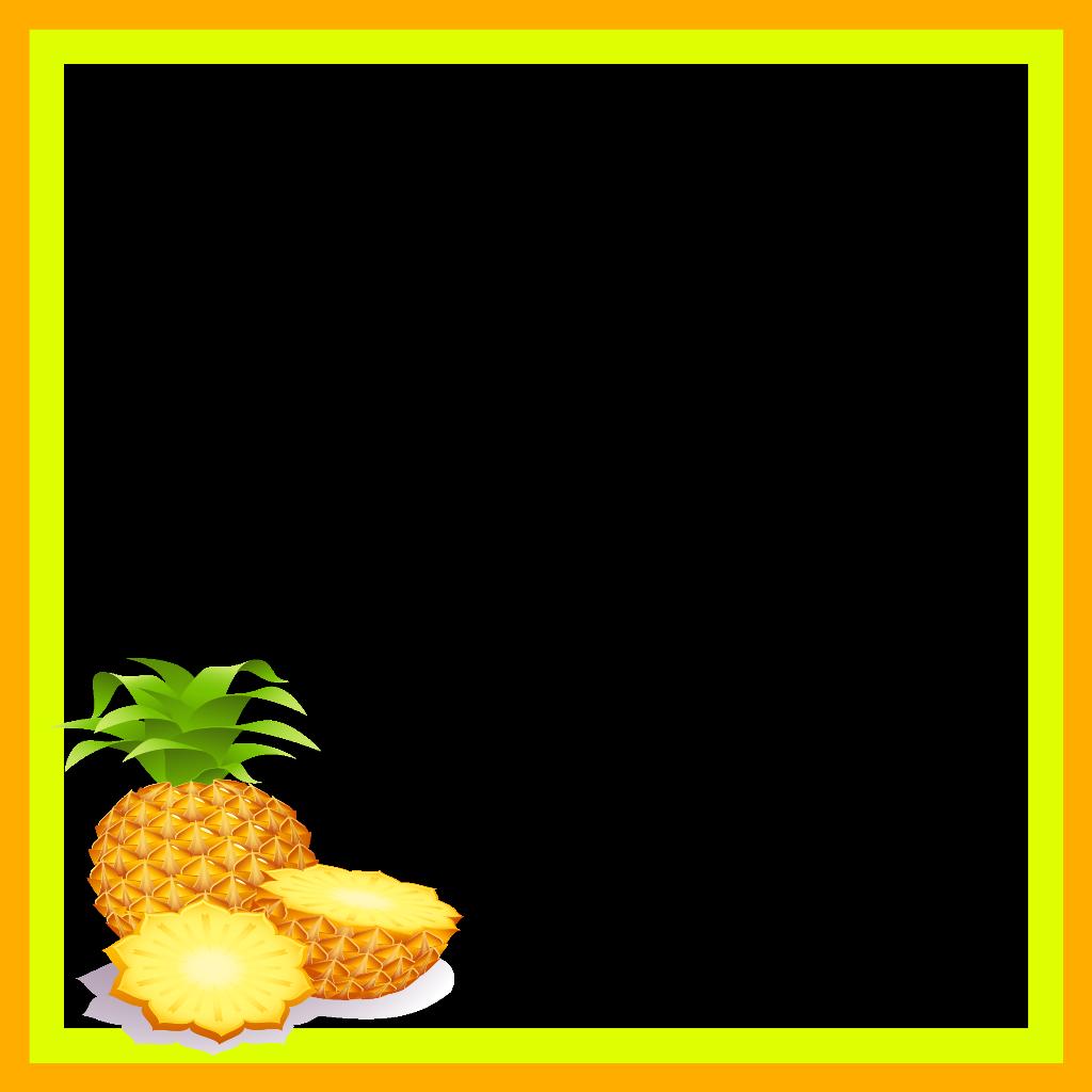 Pineapple frame clipart clip art royalty free library mq orange ananas pineapple fruit frame frames border... clip art royalty free library