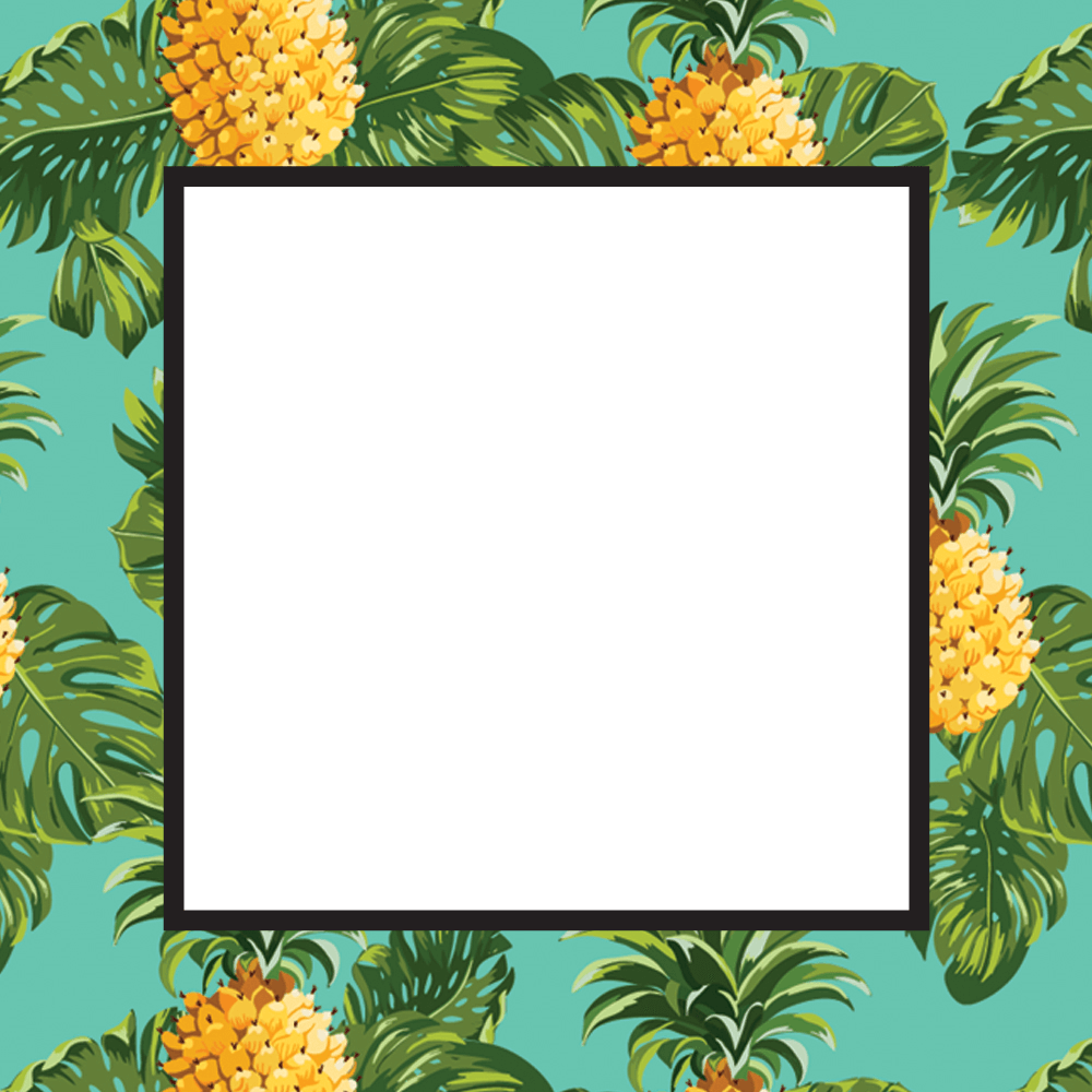 Pineapple frame clipart black and white download Pineapple Print - Free Printable Summer Party Invitation ... black and white download