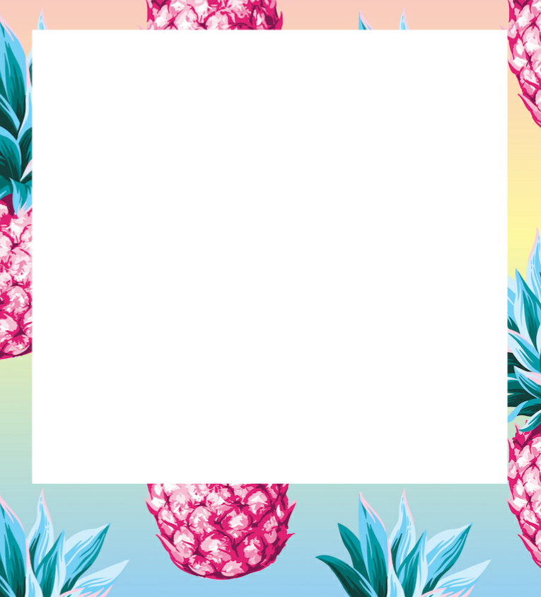 Pineapple frame clipart png stock border frame summer pineapple colorful freetoedit... png stock