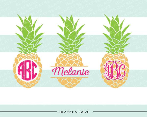 Pineapple monogram clipart svg transparent library Pineapples SVG file Cutting File Clipart in Svg, Eps, Dxf, Png for Cricut &  Silhouette monogram pineapple split pineapple svg svg transparent library