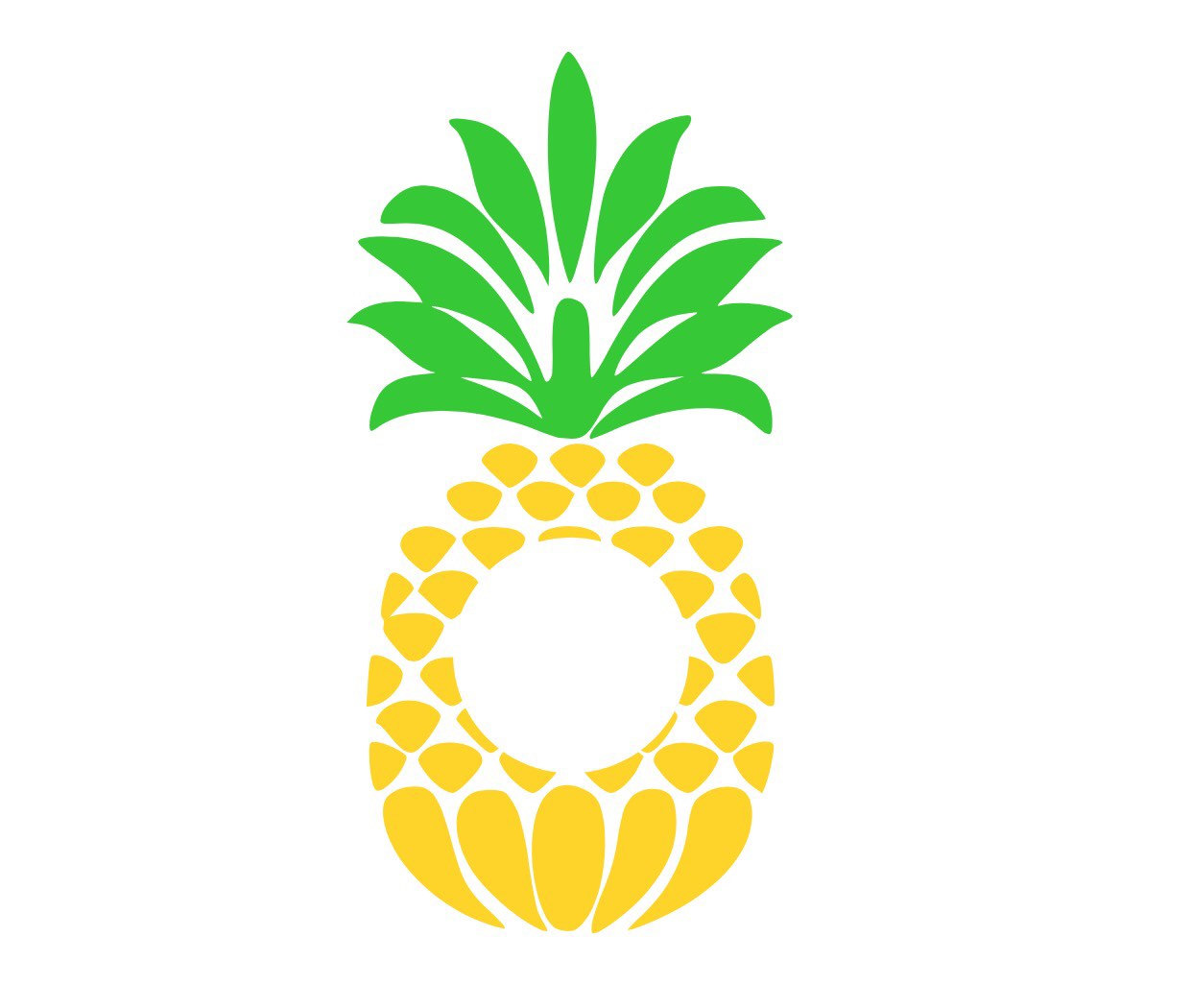 Pineapple monogram clipart png Pineapple Monogram Clipart png