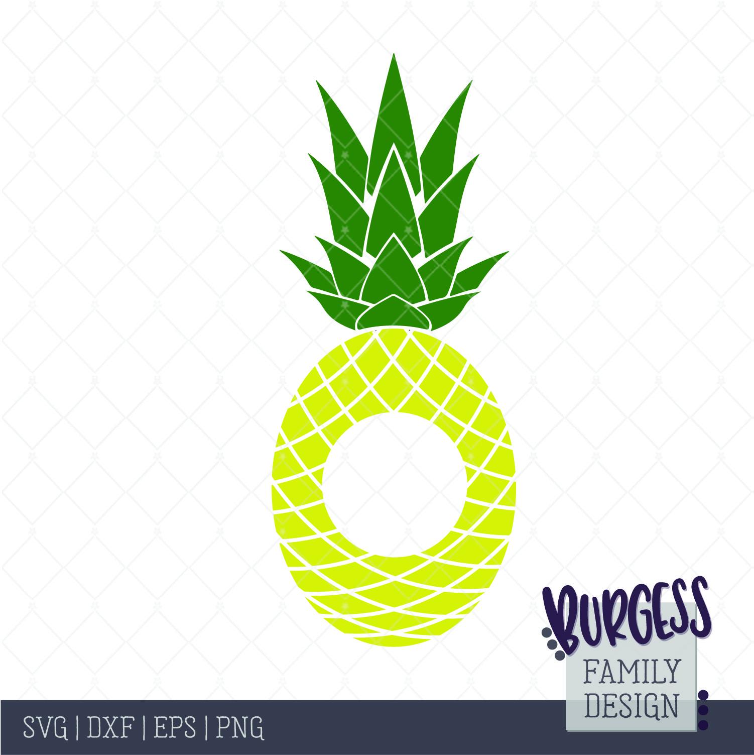 Pineapple monogram clipart graphic stock Monogram cutout pineapple Cut file graphic stock