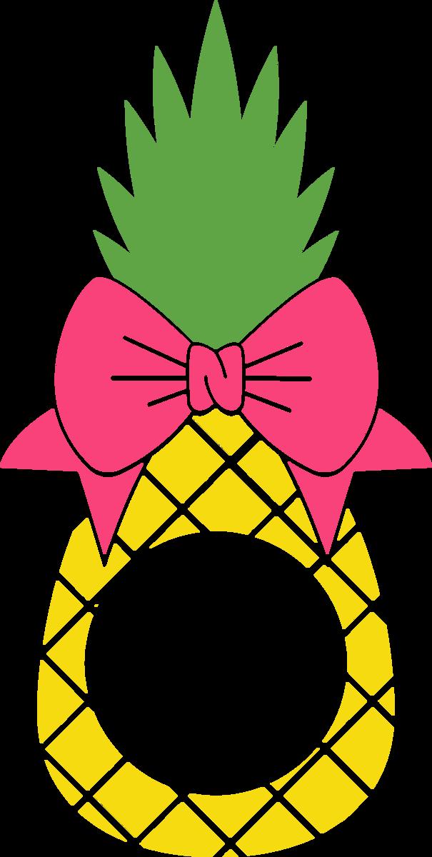Pineapple monogram clipart vector royalty free stock Pineapple Monogram with Bow vector royalty free stock