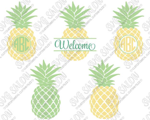 Pineapple monogram clipart clip art black and white Pineapple Monogram Cut File in SVG, EPS, DXF, JPEG, and PNG clip art black and white