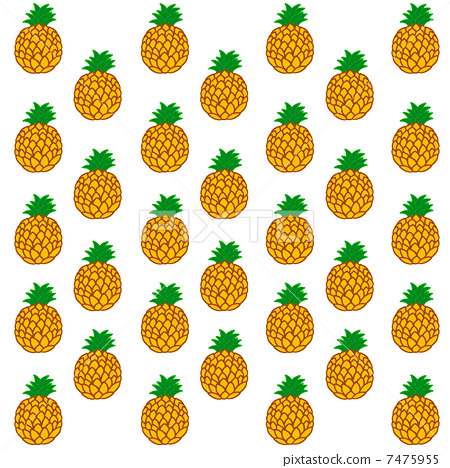 Pineapple pattern clipart vector library library Pineapple Pattern Background | Clipart Panda - Free Clipart ... vector library library