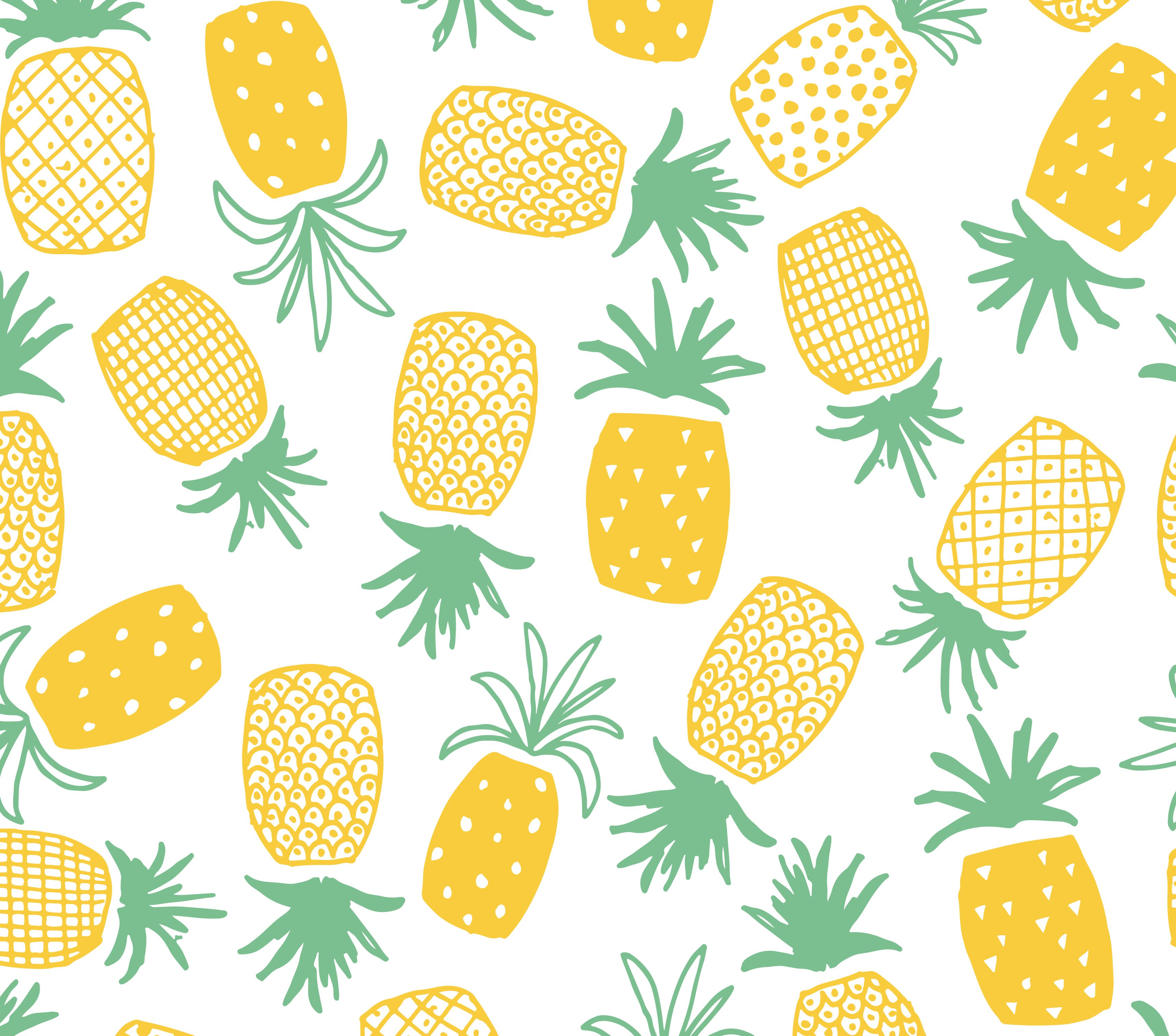 Pineapple pattern clipart png black and white download Pineapple Print Seamless Pattern | ✏ Patterns and Prints ... png black and white download
