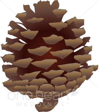 Pinecone clipart clip library download Pinecone Clip Art | Winter Wedding Clipart clip library download
