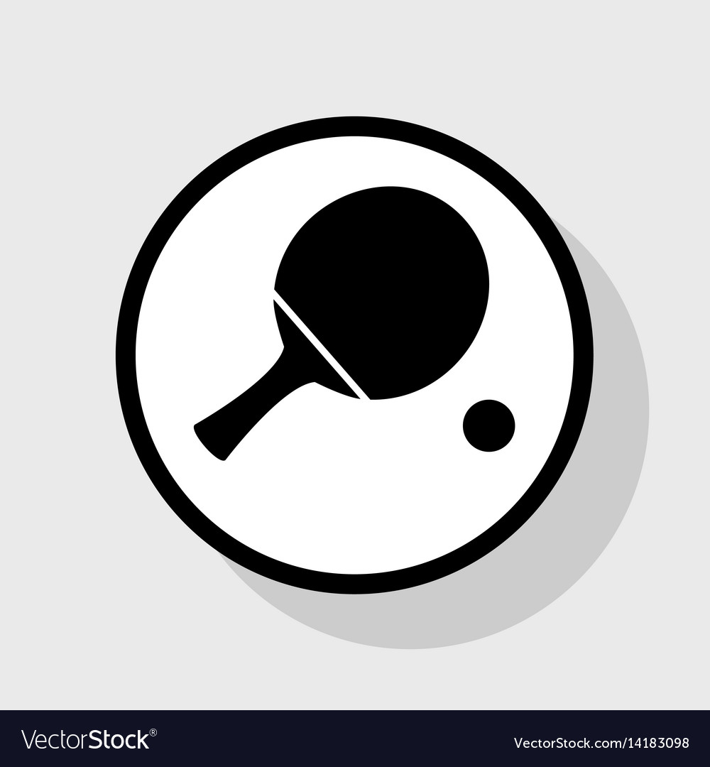 Ping pong clipart black and white royalty free svg library stock Ping pong paddle with ball flat black svg library stock