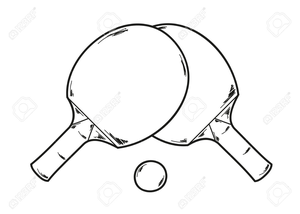 Ping pong clipart black and white royalty free svg transparent library Ping Pong Paddle Clipart | Free Images at Clker.com - vector ... svg transparent library