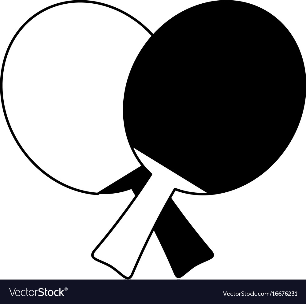 Ping pong clipart black and white royalty free freeuse download Ping pong paddles icon image freeuse download
