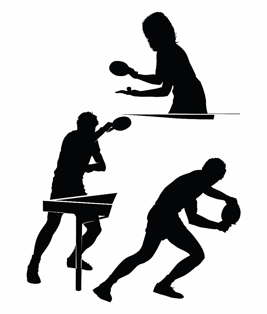 Ping pong clipart silhouette transparent backgrounf jpg freeuse download Clipart Table Silhouette - Table Tennis Silhouette Png Free ... jpg freeuse download