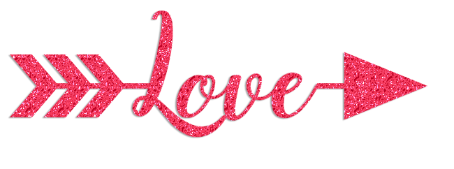 Pink and black arrow clipart image library download Valentine's Day Love Glitter Clipart – CuteCrafting image library download