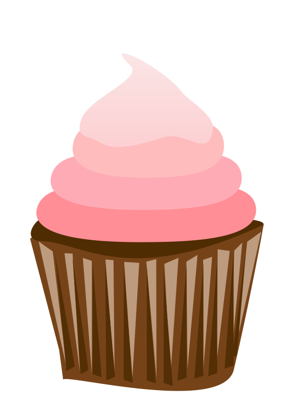 Pink and brown cupcake clipart picture Free Image Of A Cupcake, Download Free Clip Art, Free Clip ... picture