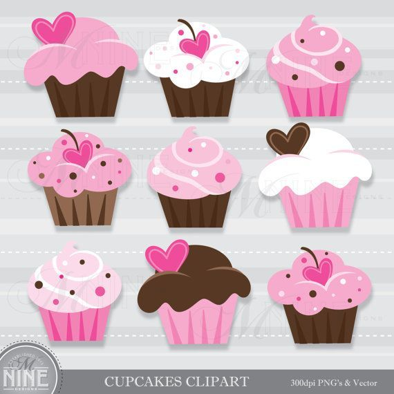 Pink and brown cupcake clipart png royalty free library Pink and brown cupcake clipart 2 » Clipart Portal png royalty free library