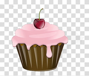 Pink and brown cupcake clipart stock FOOD, brown cupcake transparent background PNG clipart ... stock