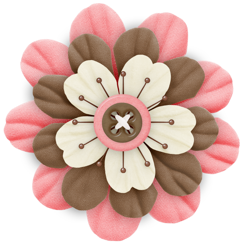 Pink and brown flower clipart svg free Cute Cliparts ❤ Pink and Brown Flower | Cute Clipart | Pinterest ... svg free