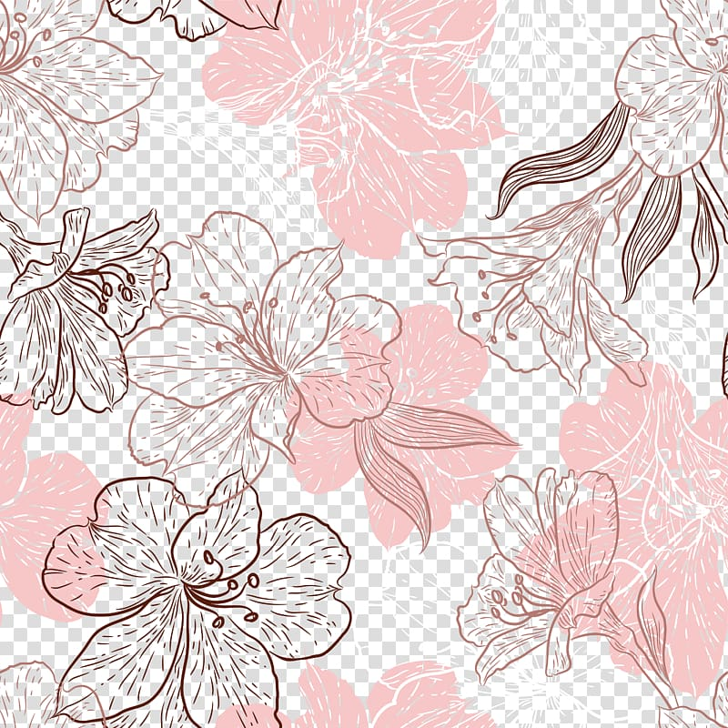 Pink and brown leaves clipart clipart transparent stock Pink and brown flowers , Flower Leaf Pink Petal, Hand ... clipart transparent stock
