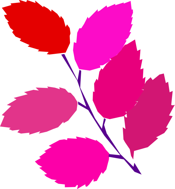 Pink and brown leaves clipart jpg library library Pink Folder With Brown Leaf Icon, PNG ClipArt Image - Clip ... jpg library library