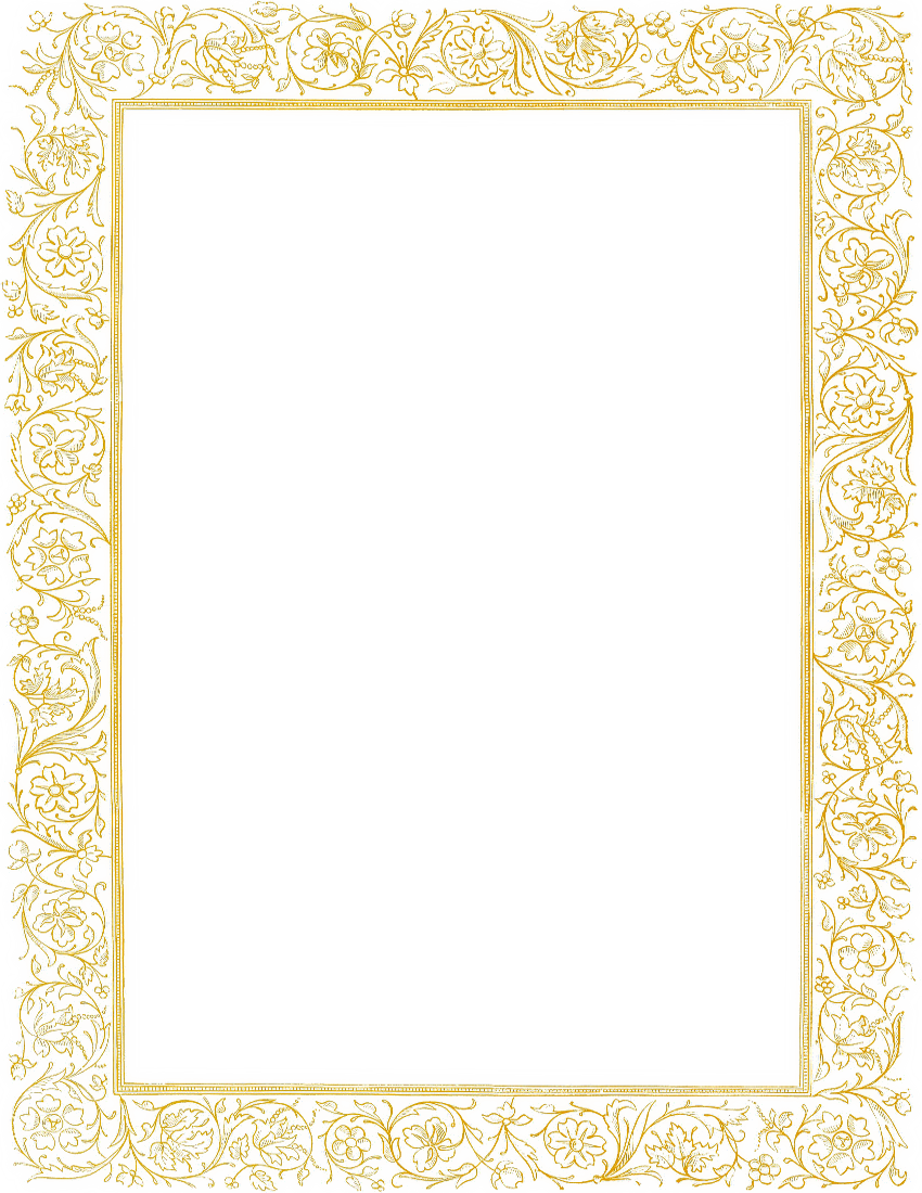 Pink and gold border clipart banner library download Free Golden Border Cliparts, Download Free Clip Art, Free ... banner library download