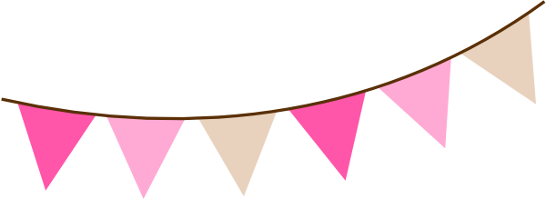Pink and gold flag banner clipart png svg free library Pink Flag Banner Png | theveliger svg free library