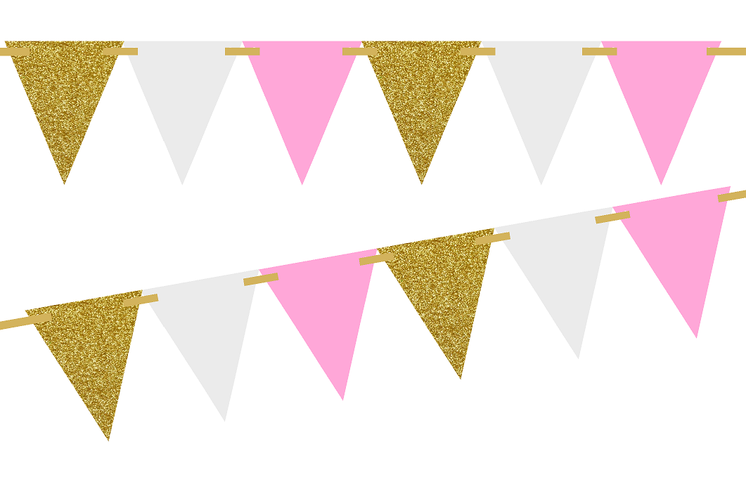 Pink and gold flag banner clipart png jpg free Free Pennant Flags Png, Download Free Clip Art, Free Clip ... jpg free