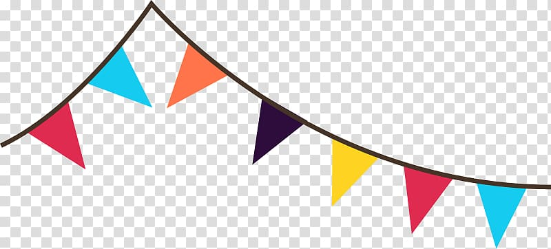 Yellow triangle flag banner clipart no background picture black and white Multicolored flaglets illustration, Bunting Banner Pennon ... picture black and white