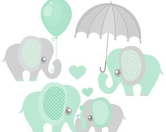 Pink and gray elephant baby shower clipart jpg black and white Baby Boy Elephant Clipart, Cute Elephant Clip Art Images ... jpg black and white