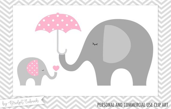 Pink and gray elephant baby shower clipart banner transparent download Elephant baby shower clipart 8 » Clipart Portal banner transparent download