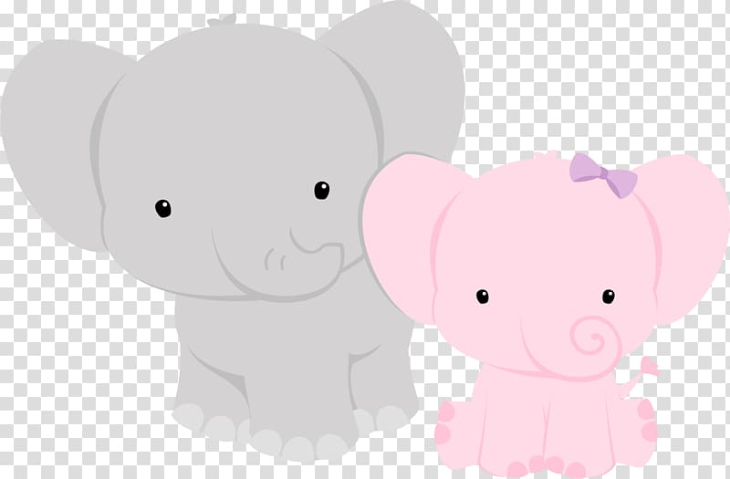 Pink and gray elephant baby shower clipart vector royalty free Two gray and pink elephants , Elephant Baby shower Animal ... vector royalty free