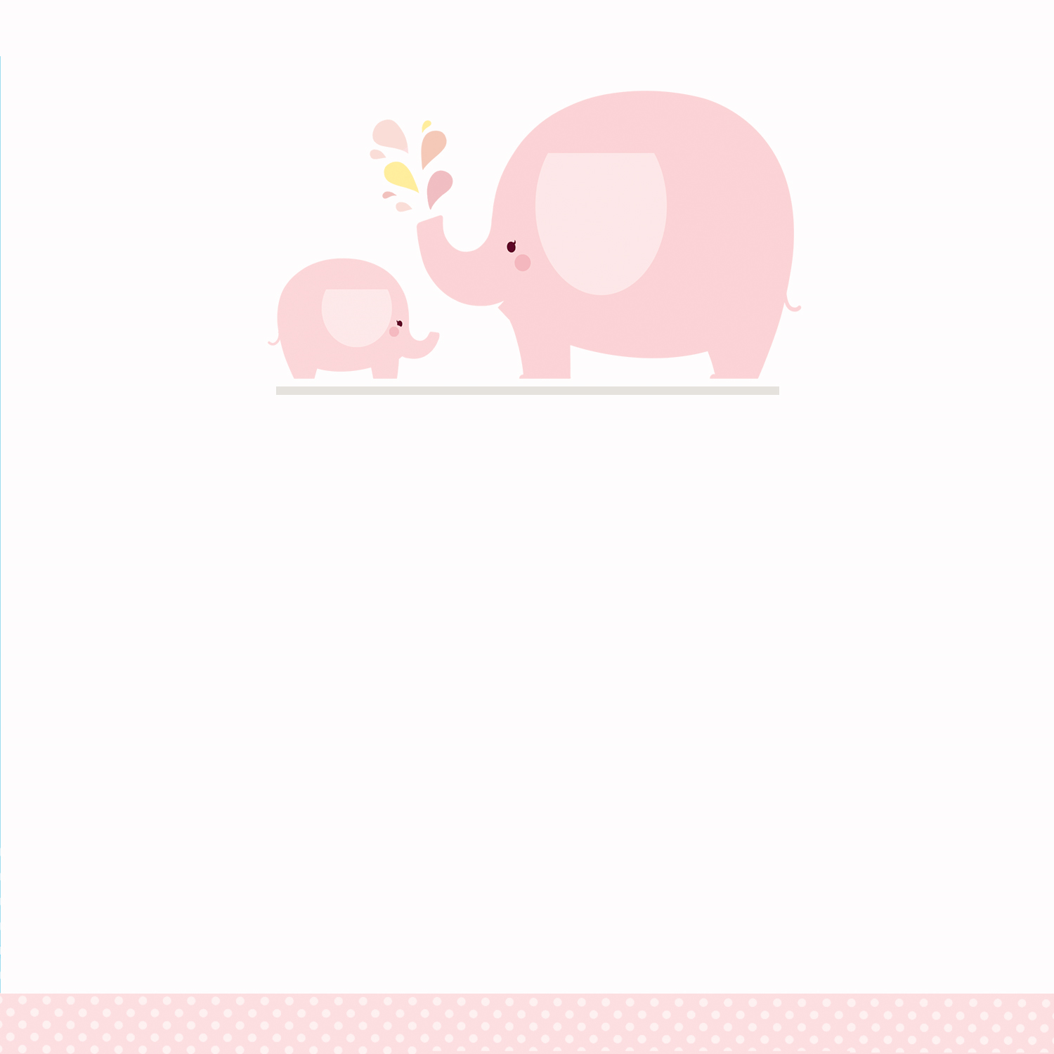 Pink and gray elephant baby shower clipart clip art freeuse stock Pink Baby Elephant - Free Printable Baby Shower Invitation ... clip art freeuse stock
