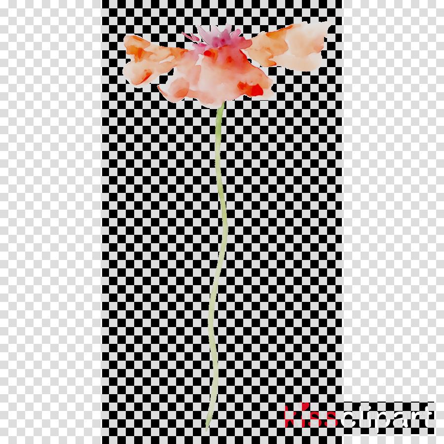Pink and orange flower stem clipart png free library Flower, Pink, Orange, transparent png image & clipart free ... png free library